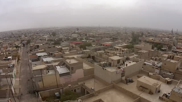 aerial footage inside mosul eastern albakr neighbourhood where there were intense clashes between isis and iraqi counter terrorism units the vision... - najaf stock videos & royalty-free footage