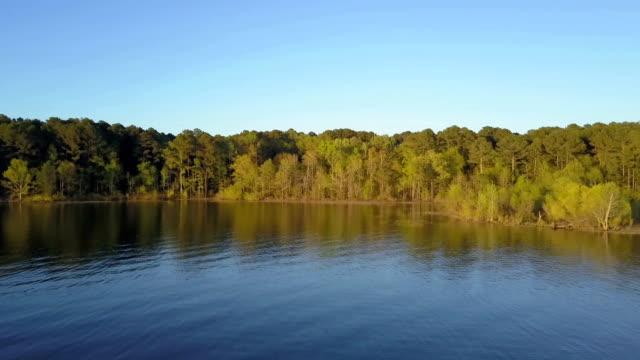 aerial footage of a lake sunset - sri lanka video stock e b–roll