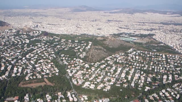 Aerial footage of Athens Greece on Thursday June 25 2016