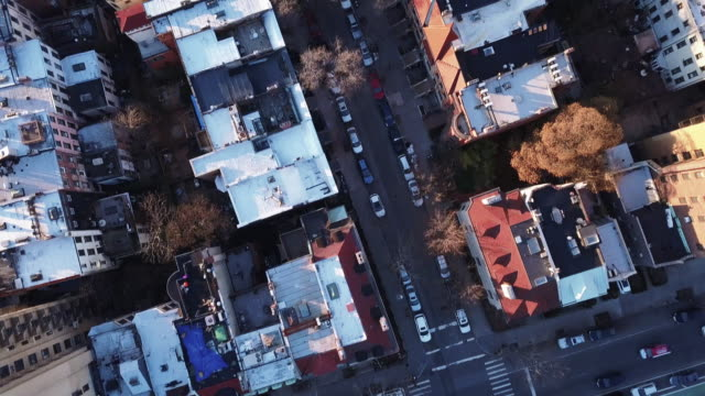 vídeos de stock, filmes e b-roll de aerial footage of brooklyn - brooklyn new york