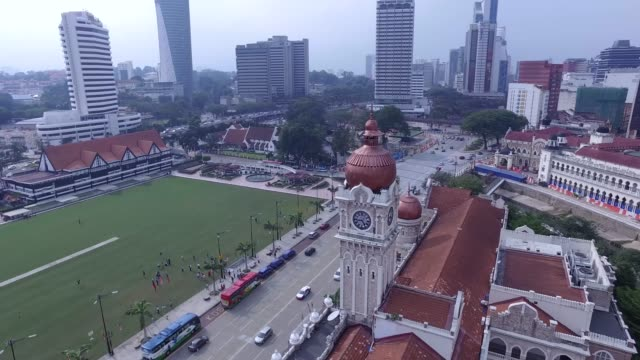aerial footage of kuala lumpur, malaysia - menara kuala lumpur tower stock videos and b-roll footage
