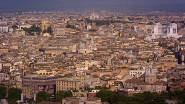 aerial footage of large area of rome - altare della patria stock videos and b-roll footage