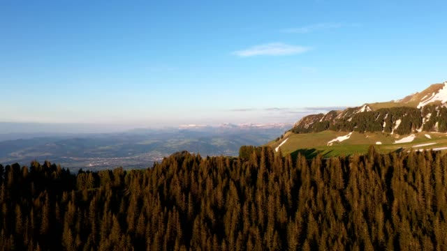 aerial footage of mountain in switzerland around the gurnigel - lake thun stock videos and b-roll footage