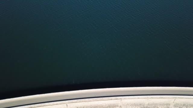 aerial footage of the marathon lake dam, greece - 1931 stock videos & royalty-free footage