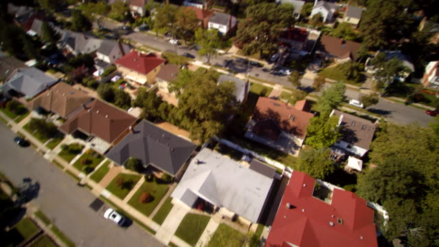 aerial footage of the queens village residential area, new york city, usa. - queens new york city stock videos and b-roll footage