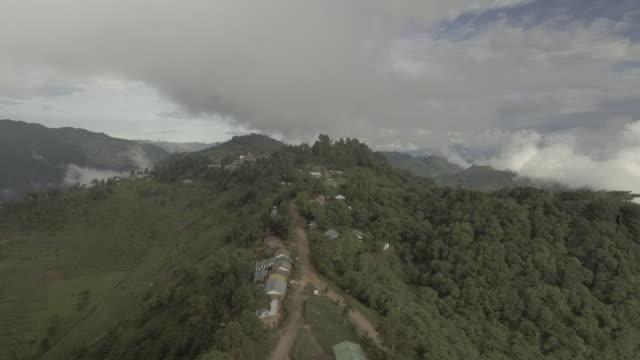 aerial footage of ugandan mountains - kampala stock videos & royalty-free footage