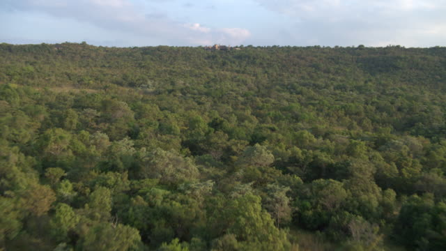 Aerial footage over South African savanna