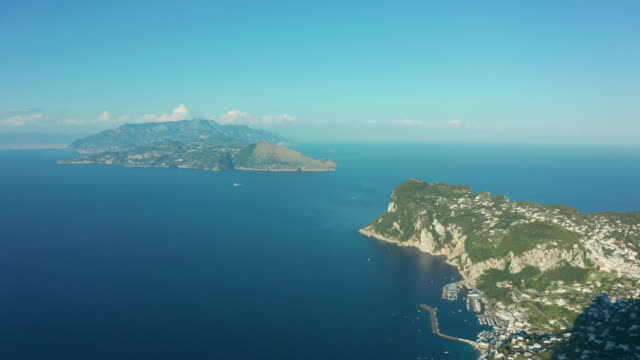 aerial footage recorded with drone flying over the island of capri. 4k. - italian culture stock videos & royalty-free footage