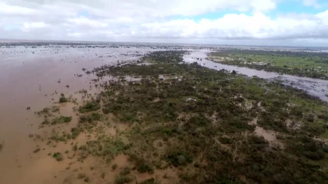 aerial footage shows the scale of floods in the mozambican city of beira after tropical cyclone idai hit mozambique zimbabwe and malawi killing more... - malawi stock videos & royalty-free footage