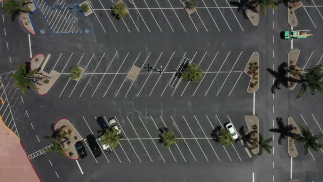 aerial footage taken over the carmel mountain ranch shopping complex in san diego, california, u.s., on thursday, may 7, 2020. - parking stock videos & royalty-free footage