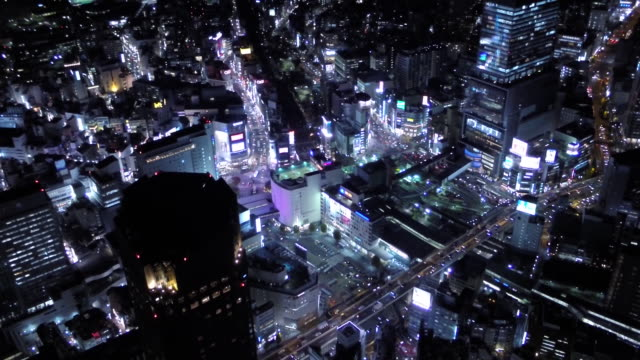aerial footages of shibuya. - tokyo japan stock videos and b-roll footage
