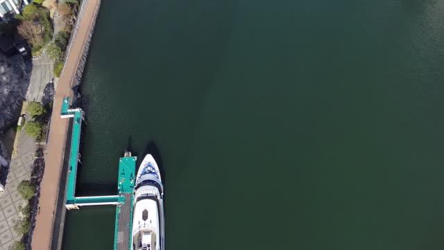 aerial footages of tennōzu isle station. - nyttotrafik bildbanksvideor och videomaterial från bakom kulisserna