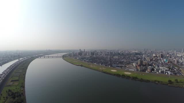 Aerial footages of TokyoSkytree.