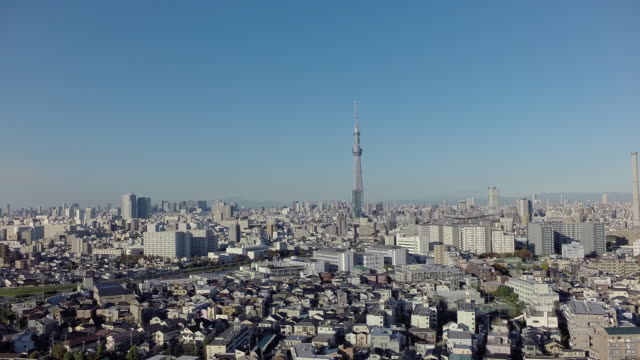 Aerial footages of TokyoSkytree.