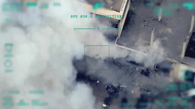 vídeos y material grabado en eventos de stock de aerial footages taken by drones early friday show the moment turkish forces hit assad regime targets from ground and air. turkish forces pounded... - air raid