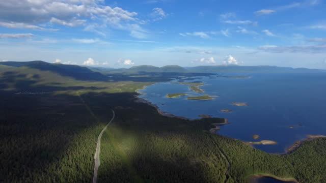 Aerial Waldblick im Sommer bei gutem Wetter
