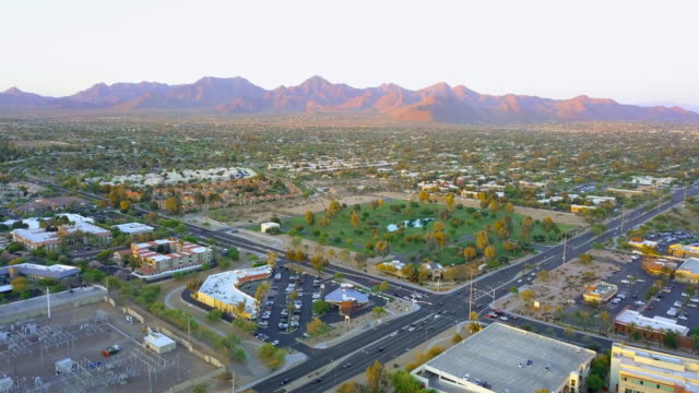 aerial forward: mountains of scottsdale arizona - arizona stock videos & royalty-free footage