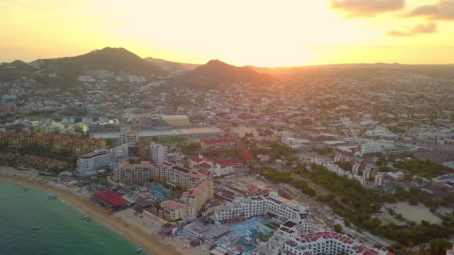 aerial forward slow: amazing city of mexico - cabo san lucas stock videos & royalty-free footage