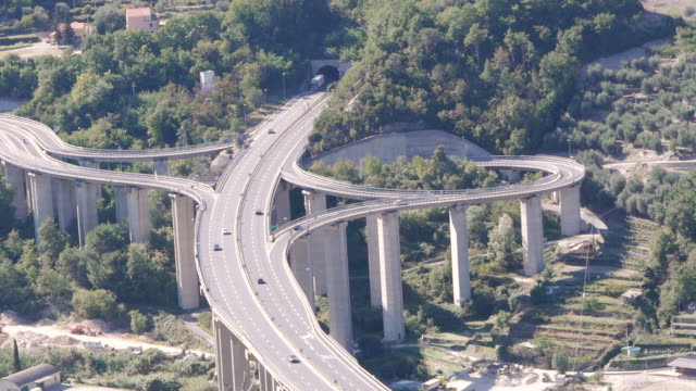 aerial freewayexit  in finale ligure, italy - liguria stock videos & royalty-free footage
