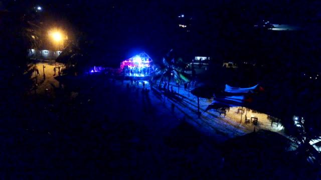aerial/ full moon party, zanzibar - tourist resort stock videos and b-roll footage
