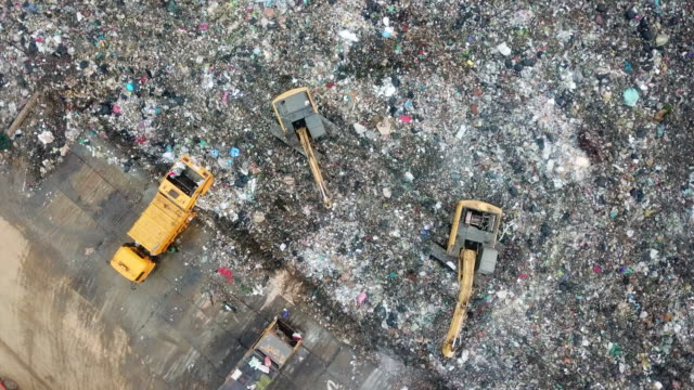 aerial garbage - rubbish dump stock videos & royalty-free footage