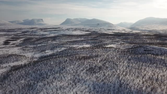 aerial gate of lapland - national park stock videos & royalty-free footage
