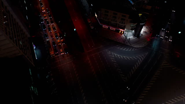 aerial general views of kiev's streets at night. - cityscape stock videos & royalty-free footage