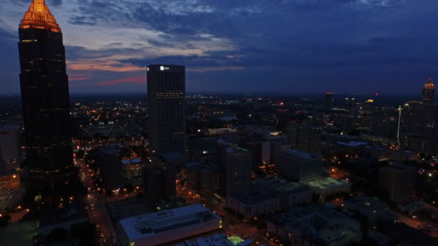 aerial georgia atlanta - twilight stock videos & royalty-free footage
