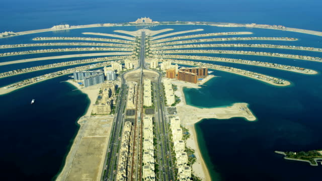 Aerial Golden Mile, Palm Jumeirah, Dubai