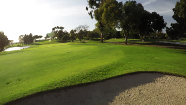 4k aerial golf course scenes in socal. - green golf course stock videos and b-roll footage