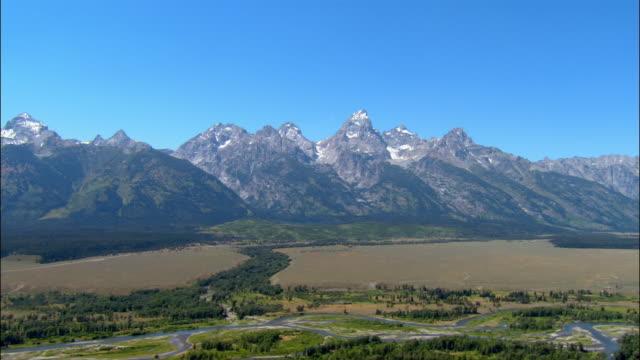Aerial Grand Tetons/ Wyoming