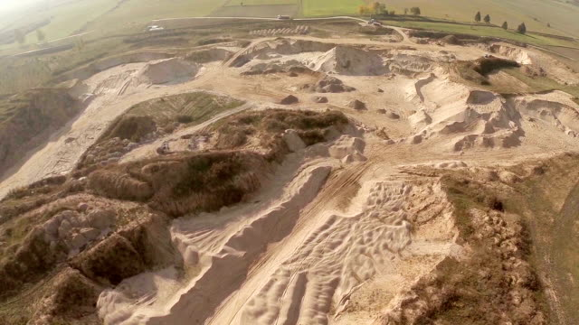 aerial gravel-mining - pit mine stock videos and b-roll footage