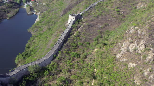 aerial great wall of china huanghuacheng area - mutianyu stock videos & royalty-free footage