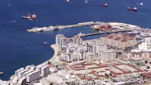 aerial harbor of gibraltar - gibraltar bildbanksvideor och videomaterial från bakom kulisserna