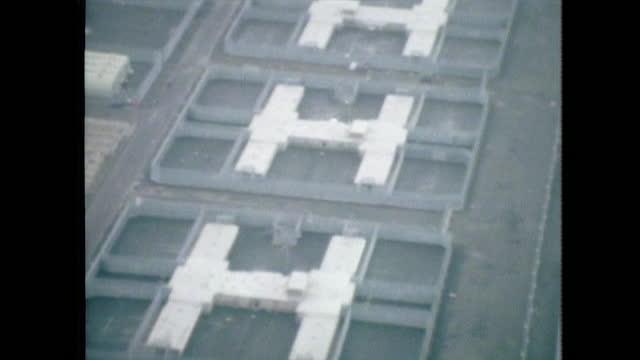 aerial h-blocks maze prison, northern ireland; 1981. - aerial view stock videos & royalty-free footage
