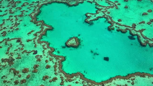 Aerial Heart Island Great Barrier Reef Pacific Ocean