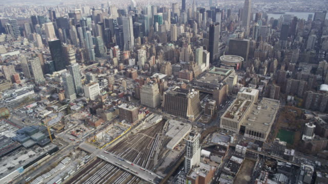 Aerial high over Manhattan