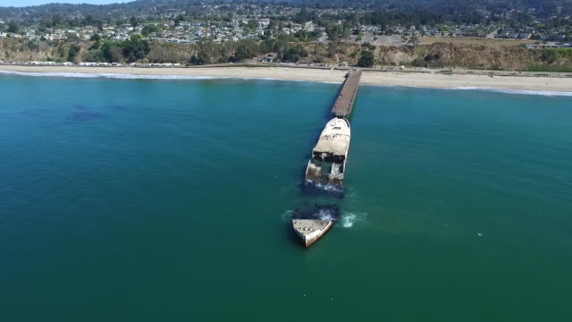 aerial high pan right: ss palo alto - santa cruz california stock videos and b-roll footage