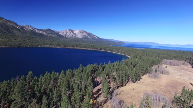 Aerial High Reverse: 4K UHD Fallen Leaf Lake