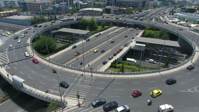 vidéos et rushes de jonction de l'autoroute aérienne - échangeur