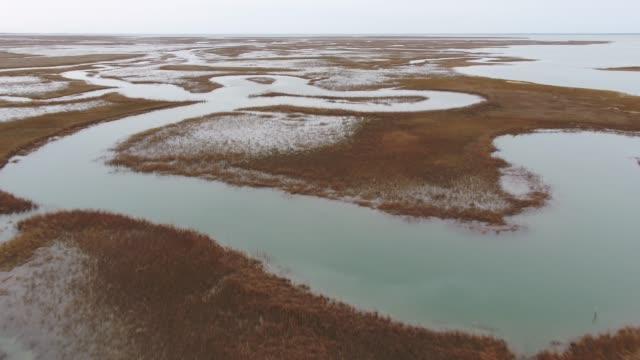 vídeos y material grabado en eventos de stock de aerial hogg island virginia - the nature conservancy