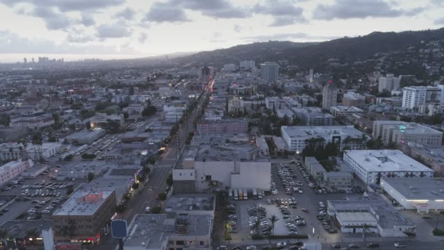 aerial hollywood los angeles - hollywood boulevard stock videos and b-roll footage