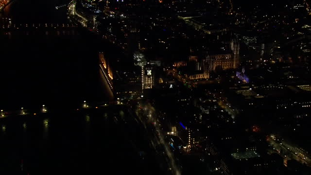 aerial houses of parliament at night - clock tower stock videos & royalty-free footage
