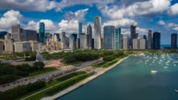 Aerial Hyperlapse of Chicago, Illinois