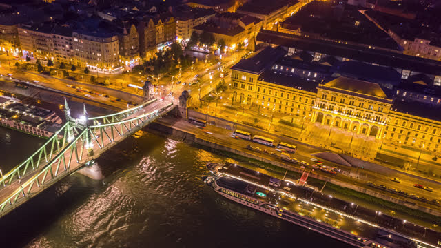 aerial hyperlapse view over budapest hungary - budapest stock videos & royalty-free footage