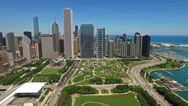 stockvideo's en b-roll-footage met luchtfoto illinois, chicago - chicago illinois
