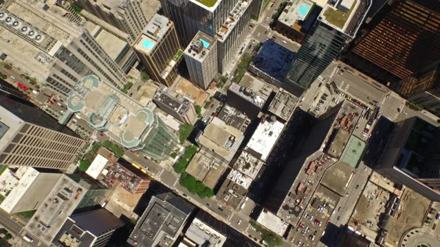 aerial illinois chicago - chicago loop stock videos and b-roll footage