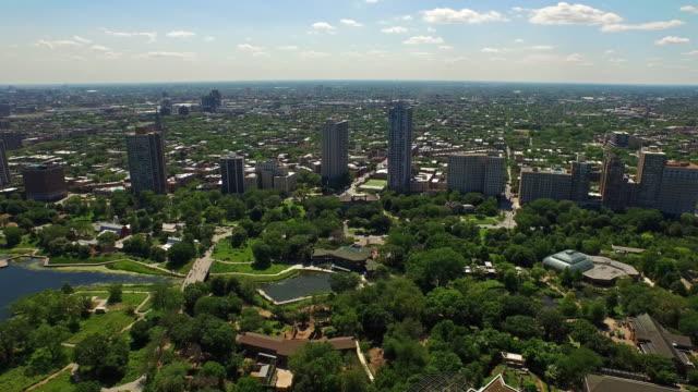 aerial illinois chicago - millennium park chicago bildbanksvideor och videomaterial från bakom kulisserna