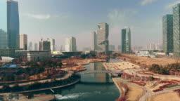Aerial Incheon Songdo Korea
