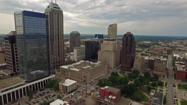 aerial indiana indianapolis - government building stock videos and b-roll footage